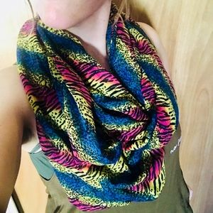 Funky tiger infinity scarf